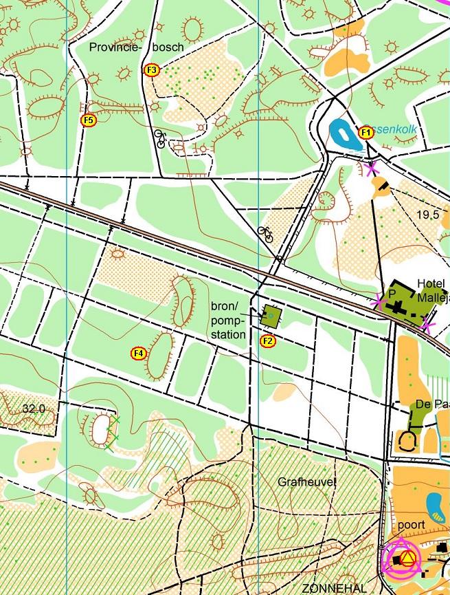 Kaart inclusief vossen 80 m VPK